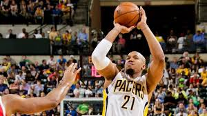 David West hit four-of-five shots against the Hawks tonight in a very necessary win.