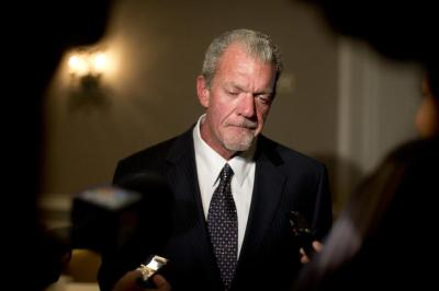 Jim Irsay is in Atlanta for the NFL owners meetings, and will lobby for Indianapolis to host Super Bowl LII.