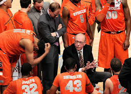 Nothing like Jim Boeheim drawing up a play for the Syracuse Orangemen to engage fans.