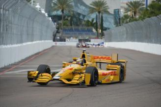 2013 series champion and 2014 Indy 500 Winner, Ryan Hunter-Reay during Friday practice.