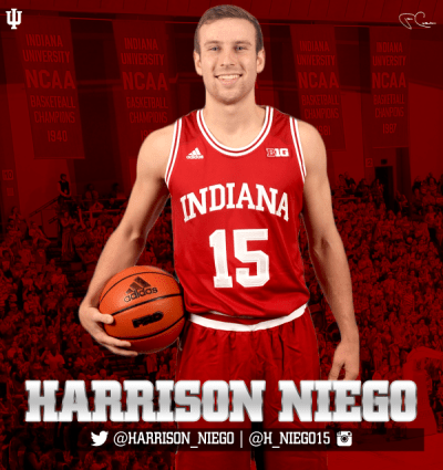 Harrison Niego was a hell of a good high school basketball player in Western Springs, IL.  Now, if you watch closely, you see him play for the love of the game at Indiana.