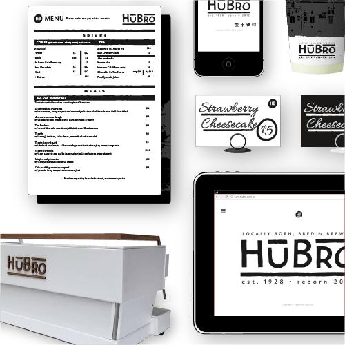 HUBRO Cafe: Branding