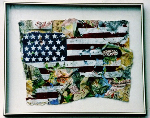 Fine art media, including oil, pastel, paper mache (shown), and photography