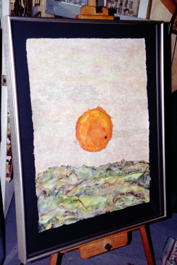Fine art media, including oil, pastel, paper mache, and photography
