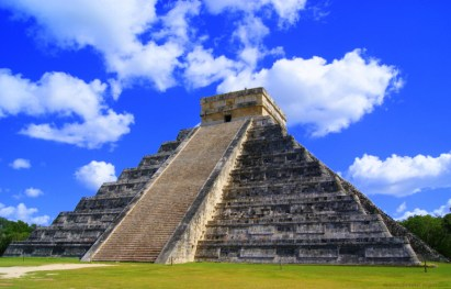 Temple of Kulkulcan. Focal point of Chichen Itza ruins.