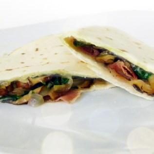 Mushroom, Prosciutto & Fontina Quesadillas