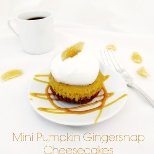 Mini Pumpkin Gingersnap Cheesecakes