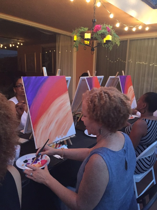 How to host your own paint and sip party
