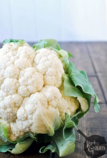 Low Carb Cauliflower | KETOGASM Pasta, pizza crust, rice, bread... you name it, cauliflower can replace it! There are so many innovative ways to utilize cauliflower in place of your favorites. Check out the nutrition info, flavor profiles, recipes and more! #keto #lowcarb #paleo #whole30 #vegetarian #vegan #eatyourveggies #ketogenic #ketosis #lchf #lowcarb #atkins #nutrition #vegetable