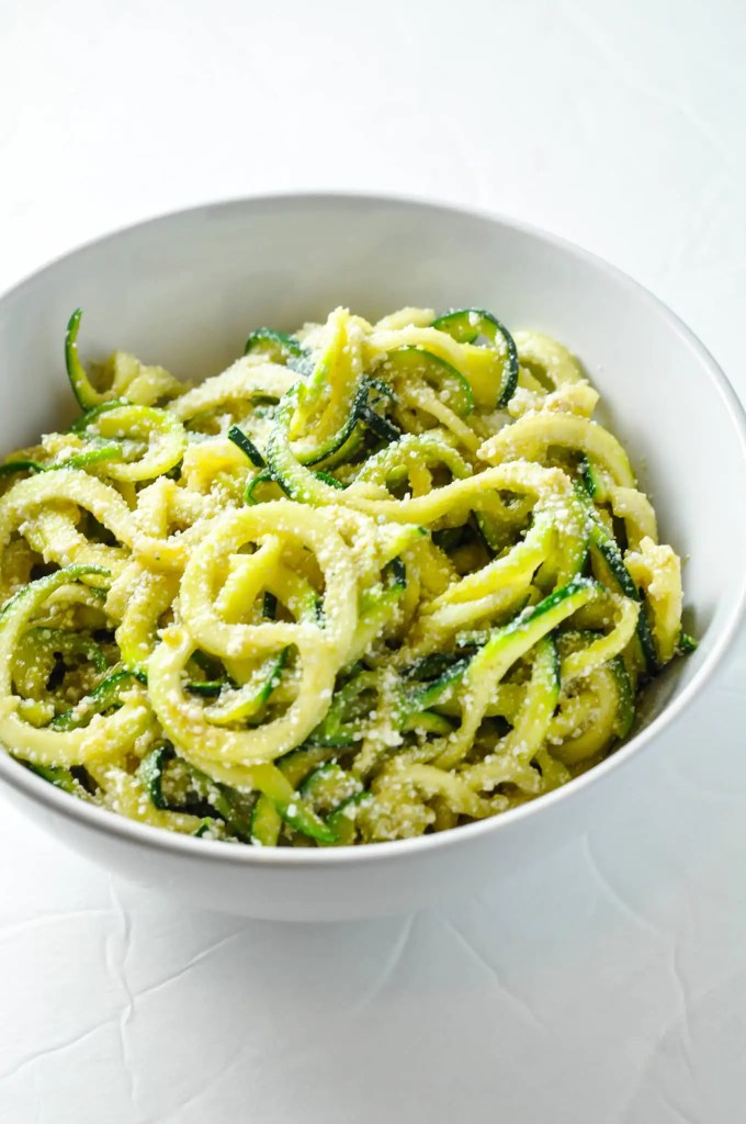 Zoodles w/ Browned Butter & Mizithra Cheese [Recipe] | KETOGASM #keto #ketogenic #ketosis #diet #recipes #zoodles #atkins #lowcarb #mizithra #cheese #browned #butter #zucchini #noodles #spaghetti #factory