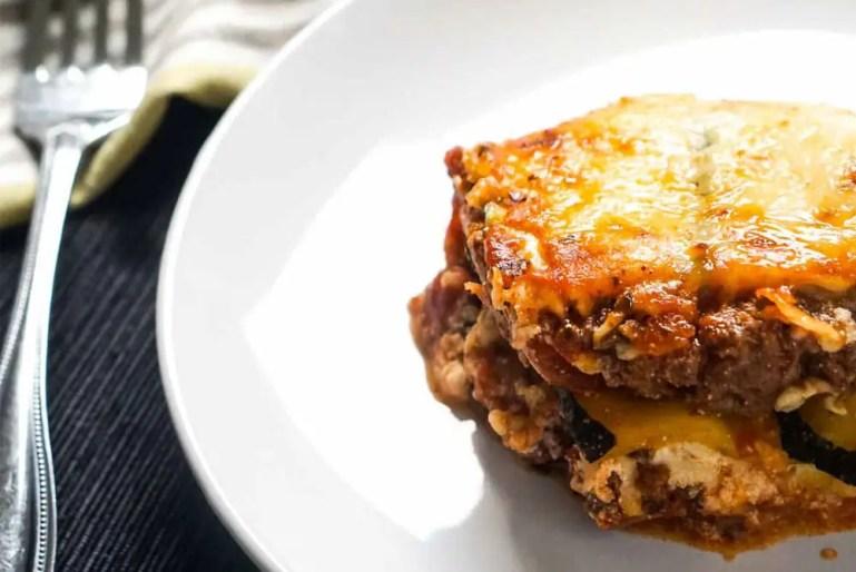 Keto Lasagna Recipe | Zucchini Noodles | Low Carb | Atkins