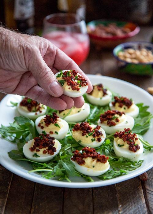 Medium Of Spicy Deviled Eggs