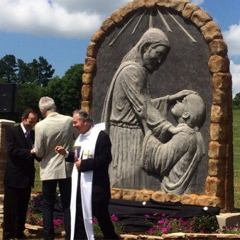 Commissioned by Christus St. Michael in Atlanta, TX. Jesus Healing is a 9'x12' cement relief.