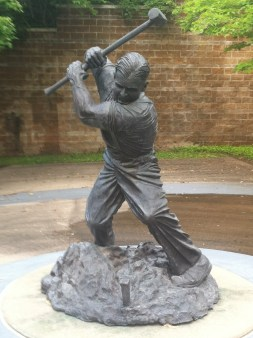 The Groundbreaker. My first large bronze, recently donated by Jack Kinnaman to the University of Arkansas at Little Rock