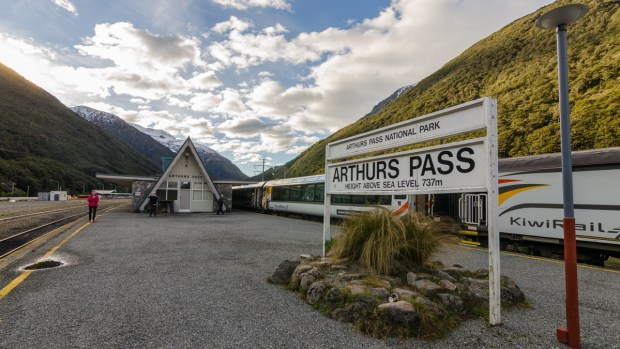 Arthurs Pass Station of the Tranzalpine train