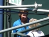 Notable chair umpire Lynn Welch