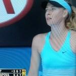 Maria Sharapova under duress!