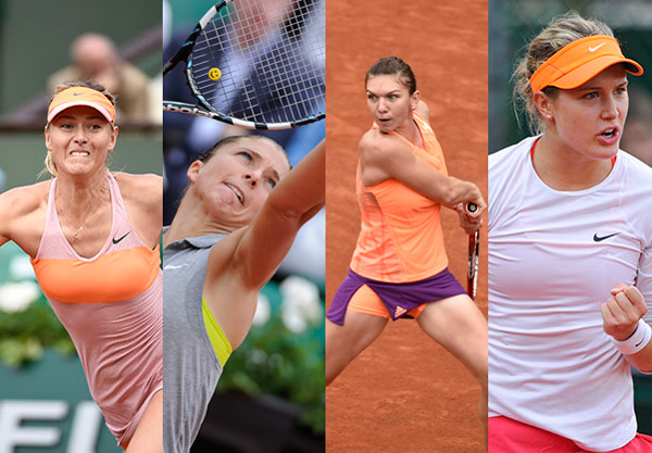 Sharapova, Errani, Halep, and Bouchard