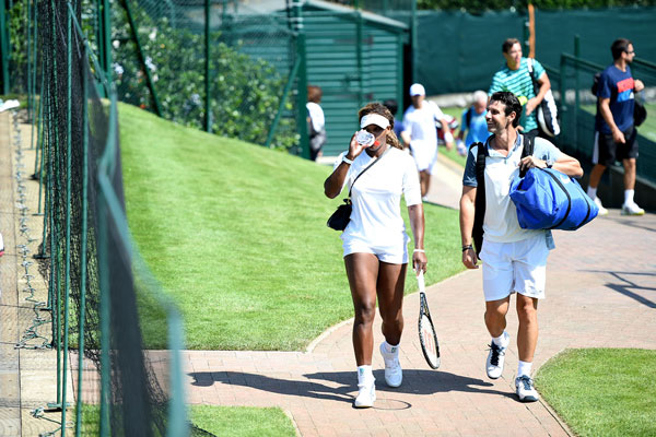 Serena Williams and Patrick Mouratoglou (Billie Weiss/AELTC)
