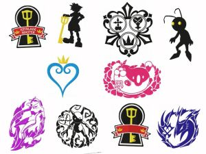 Kingdom Hearts Gamer Embroidery Designs Set