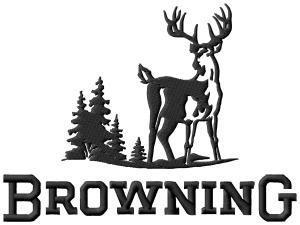browning buck embroidery design