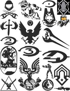 Halo Gamer Embroidery Designs Set