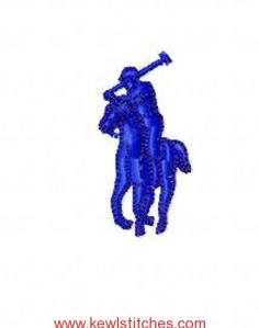 Small 1.5 in. Polo Embroidery Design