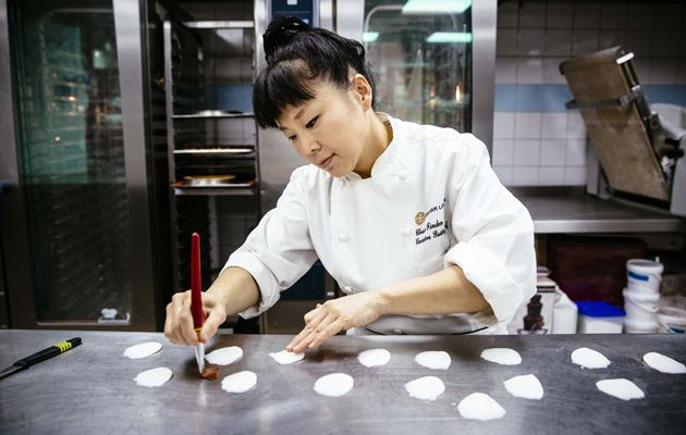 Cherish Finden was executive pastry chef at the Langham Hotel