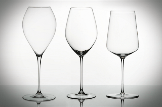 Champagne flutes, wine glasses