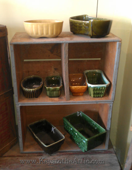 Keys-Hull-McCoy-Planters | Keys to the Attic, LLC on hull stoneware, hull lights, hull brown drip rare pieces, hull plates, hull candle holders, hull flower pots,