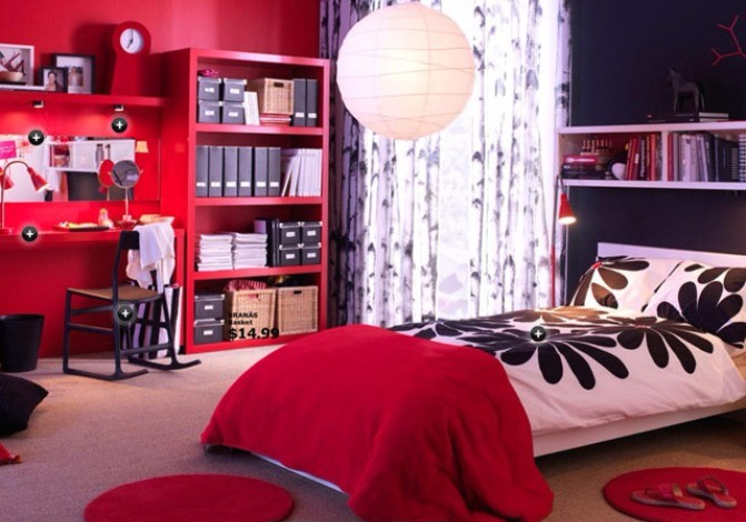 Ikea decorating ideas in red