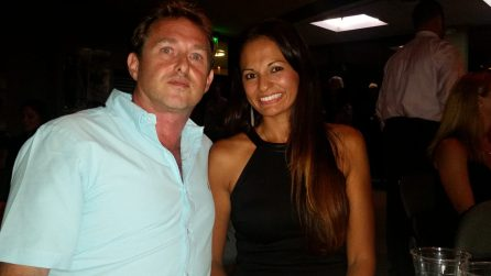 2013 Key West Realtor of the Year, Scott Forman with wife, Paola. Scott is owner and President of Royal Palms Realty.