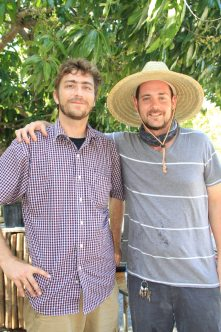 Chocolatier Eric Gilbert pairs wines and chocolates with friend and Grimal Grove manager Patrick Garvey. They have known each other since their 20s, and worked in Ecuador together with Growing Hope Initiative documenting the cacao trade in the area.
