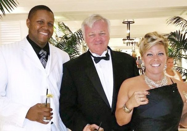 Looking dashing at the event is Rodney Gullatte, Greg Sullivan and Michelle Maxwell.