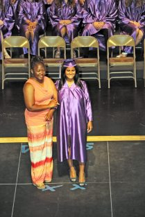 Iyamilet Vargas of Coral Shores High School with mentor Racquel Daniels. 'We couldn't have done this without the support of our founders, teachers, mentors, parents and family,' said Chuck Licis.