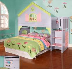 Idyllic Stairs Girls Loft Bed Slide Box 3 Vanity Girls Loft Bed A Desk Discovery World Furniture Twin Doll House Loft Beds Discovery World Furniture Twin Doll House Loft Beds