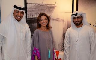 From left: Abdulla Almuhaideb, Rana Tohme Grassi and Hamad Al Falasi