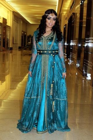 Bahraini Television Personality, Sabrin Burshaid wears Dar Naseem AlAndaloos during Saif AlMashaaer Festival in Bahrain