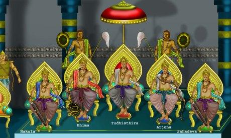 The Pandava Brothers | Photo credit: Wikimedia