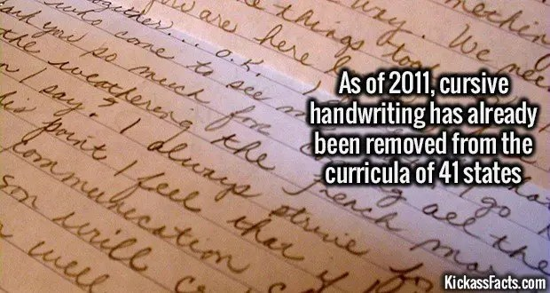 1345 Cursive handwriting