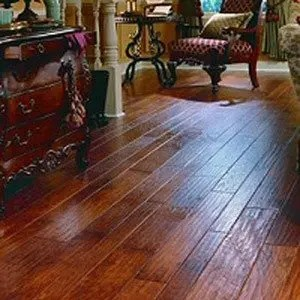 Genuine North American hardwood flooring