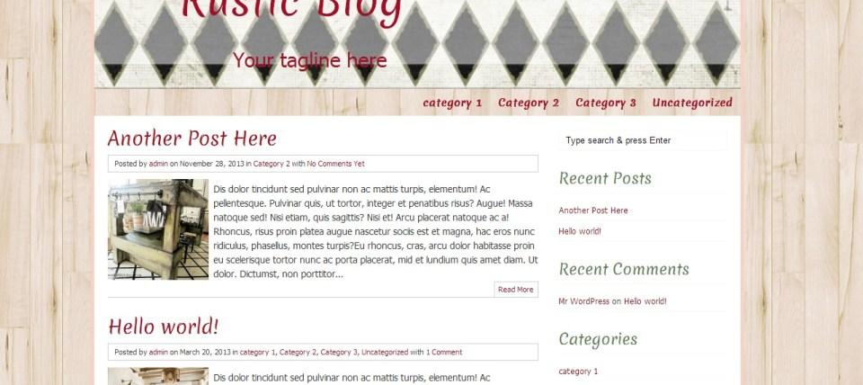 Rustic Blog