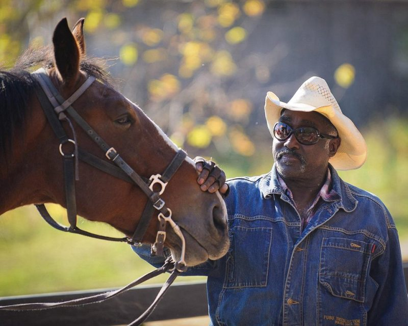 Cowboy Lou - one of the 'wranglers in residence' Pinegrove