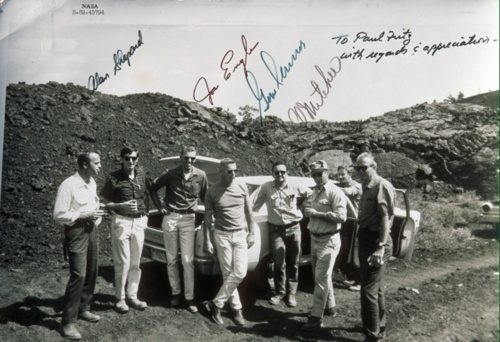 Astronauts visit Craters of the Moon in 1969