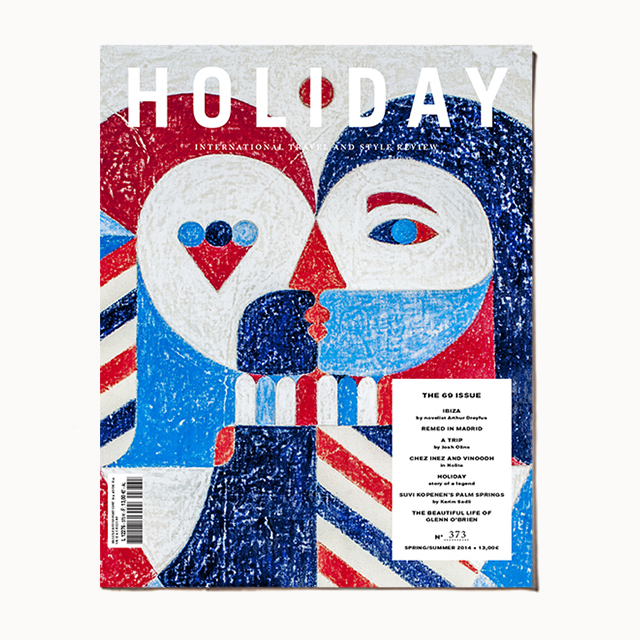 The cover of Holiday's launch issue, spring/summer 2014