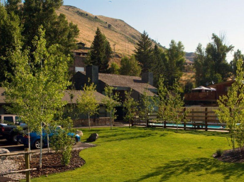 The charming and affordable Pony Express Motel in Jackson Hole.