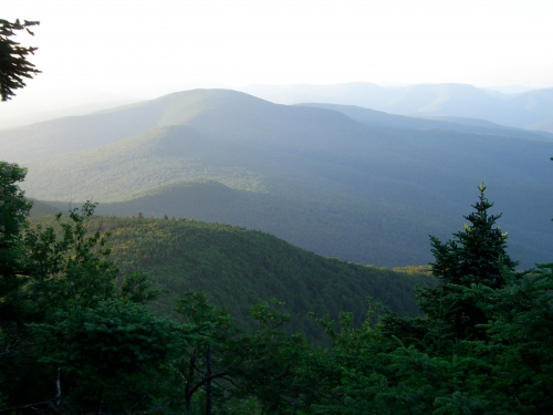 Nearby Slide Mountain in New York's Catskill area.