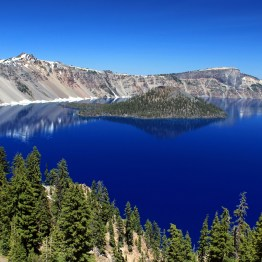 You could stack the Statue of Liberty five high in the depths of Crater Lake National Park, Oregon.
