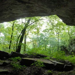 The Russell Cave National Monument in Alabama has been inhabited by humans since 7000 BC.