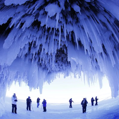 Today national parks come in all shapes and sizes. These caves, part of the Apostle Island National Lakeshore in Wisconsin are only accessible in winter.